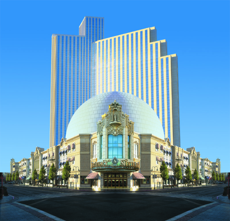 About Silver Legacy Resort Casino. Silver Legacy Reno is a hotel and casino located in Nevada. Everyone that books a room through the site can expect to have a chance to experience some great entertainment at the casino, bars, lounges and event center featured at the Silver Legacy Reno.